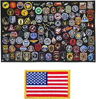 Tactical Patch Display Panel Holder Board for Military Army Combat Morale Uniform Hook & Loop Emblems, 43 Inches x 27.5 Inches (Large), No Patches Included