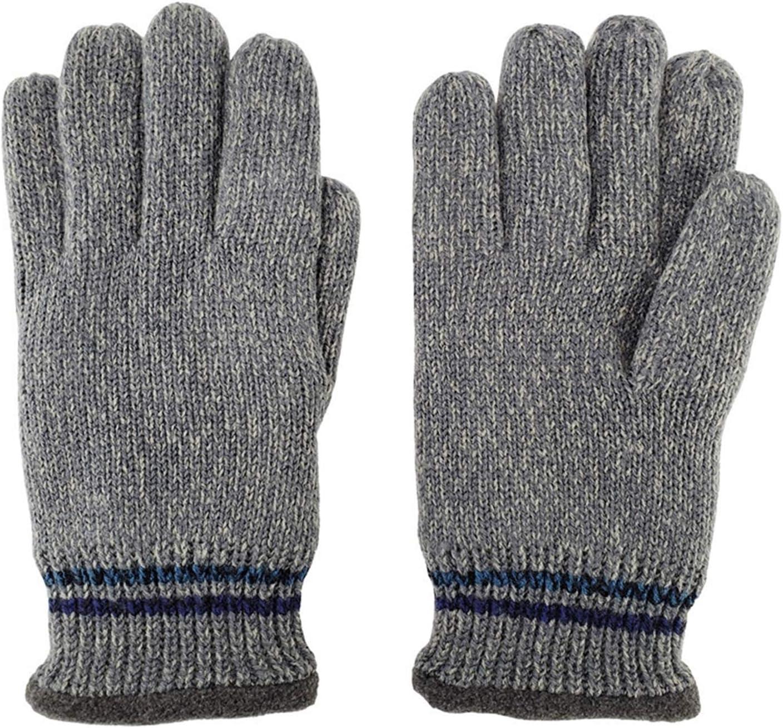 PENGYMY Winter Gloves Men's Knit Winter Gloves, with Thinsulate Polar Lining, Optical Mix (Couleur : Grey, Expédié De : China)