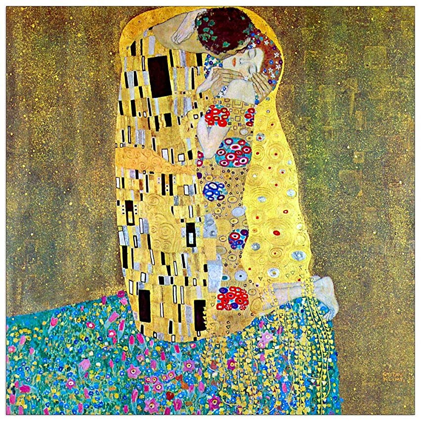 ArtPlaza TW90466 Klimt Gustav - The Kiss 2 Decorative Panel 15.5x15.5 Inch Multicolored
