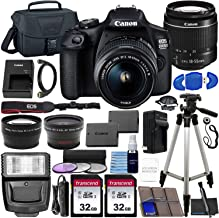 $389 » Canon EOS 2000D (Rebel T7) DSLR Camera with EF-S 18-55mm f/3.5-5.6 DC III Lens & Ultimate Accessory Bundle – Includes: 2X 32GB SDHC Memory Card, Extended Life Battery, Case, Filters & More