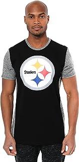 Ultra Game NFL Men`s Raglan Block Short Sleeve Tee Shirt