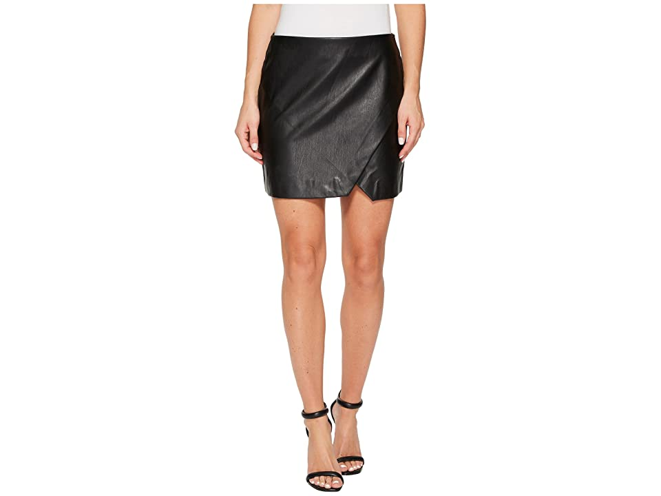 Blank NYC Black Vegan Leather Mini Skirt in Black Ice (Black Ice) Women