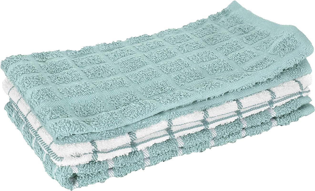 RITZ 82466 100 Cotton Terry Kitchen Dish Towel 25 X 15 Dew