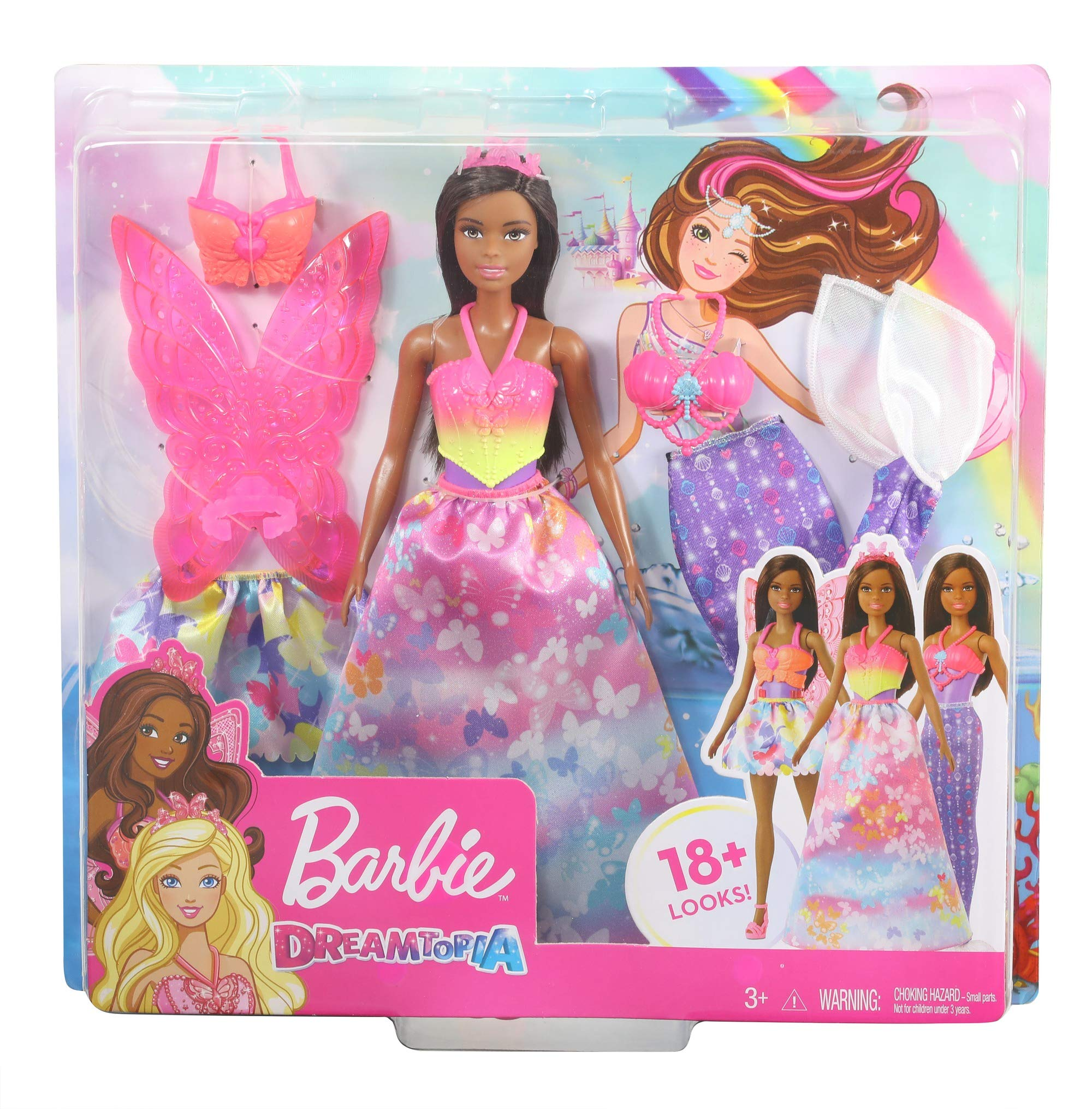 Amazon.es: Barbie - Dreamtopia Pack de Regalo 2 Sets de Ropa y Accesorios (Mattel GJK41), color/modelo surtido ...