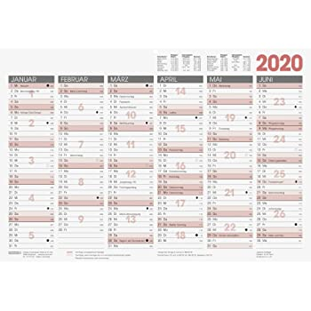 Brunnen Tischkalender Tafelkalender 2021 A4 Modell 10-70140 1 Seite=6Monate