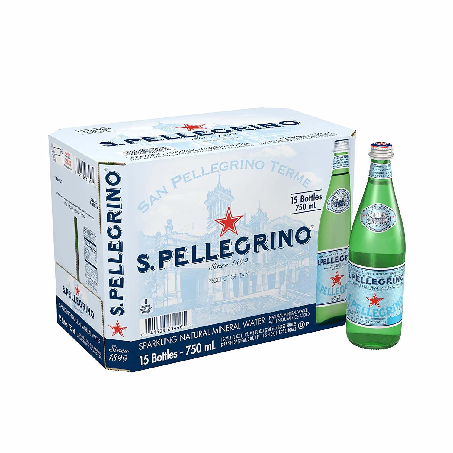 San Pellegrino Sparkling Award Recommended Mineral Water 25.3 oz