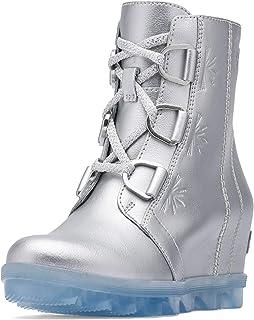 Sorel - Disney Frozen 2 Kids' Joan of Arctic Ankle Boot, Pure Silver