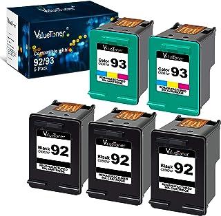 Best Valuetoner Remanufactured Ink Cartridge Replacement for HP 92 93 C9362WN C9361WN for Deskjet 5420 5420v 5440 5440v 5440xi 5442 5443 Photosmart 7850 C3100 C3110 (3 Black, 2 Tri-Color, 5 Pack) Review