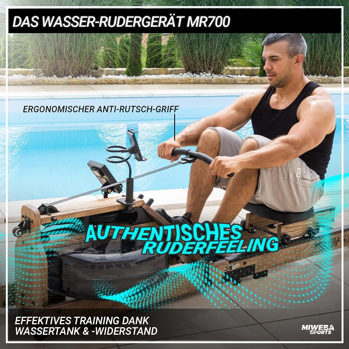 Miweba Sports WR700 Wasser Rudergerät Rudergefühl