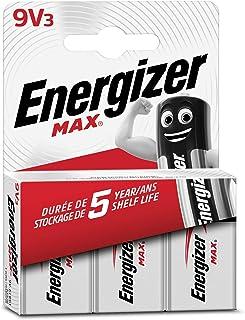 Energizer MAX Alkaline 9V Batteries, Pack of 3