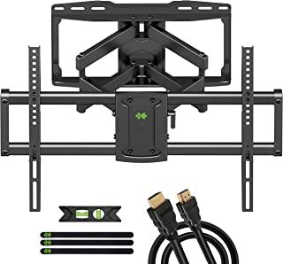 USX MOUNT TV Wall Mount, Full Motion TV Mount for Most 37-70 inch TVs, TV Bracket Dual Swivel Articulating Arms Extension ...