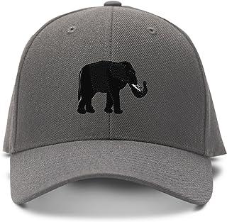 630f2dc38683f Speedy Pros Black Elephant Embroidery Embroidered Adjustable Hat Baseball  Cap Dark Gray