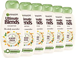 Garnier Ultimate Blends Shampoo | Almond Crush With Almond Milk & Agave Sap Daily Nourishment for Normal Hair | 360 ml | P...