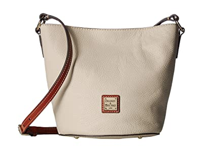 Dooney & Bourke Pebble Small Thea Crossbody (Bone/Tan Trim) Cross Body Handbags