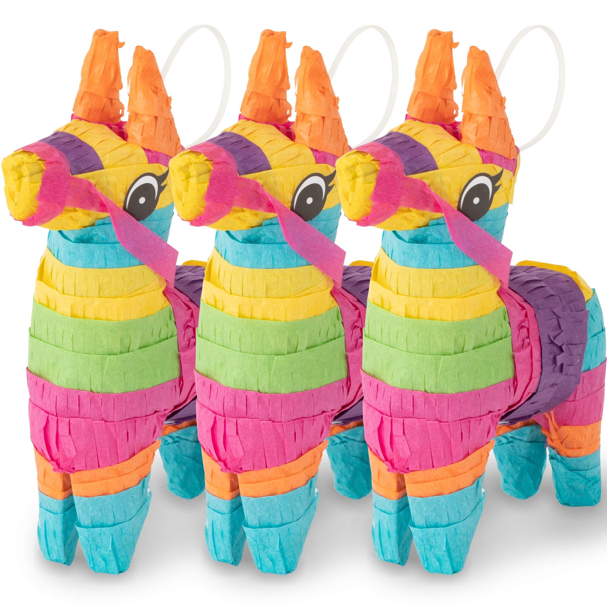 Meklines Mini Donkey Pinata Rainbow Colored