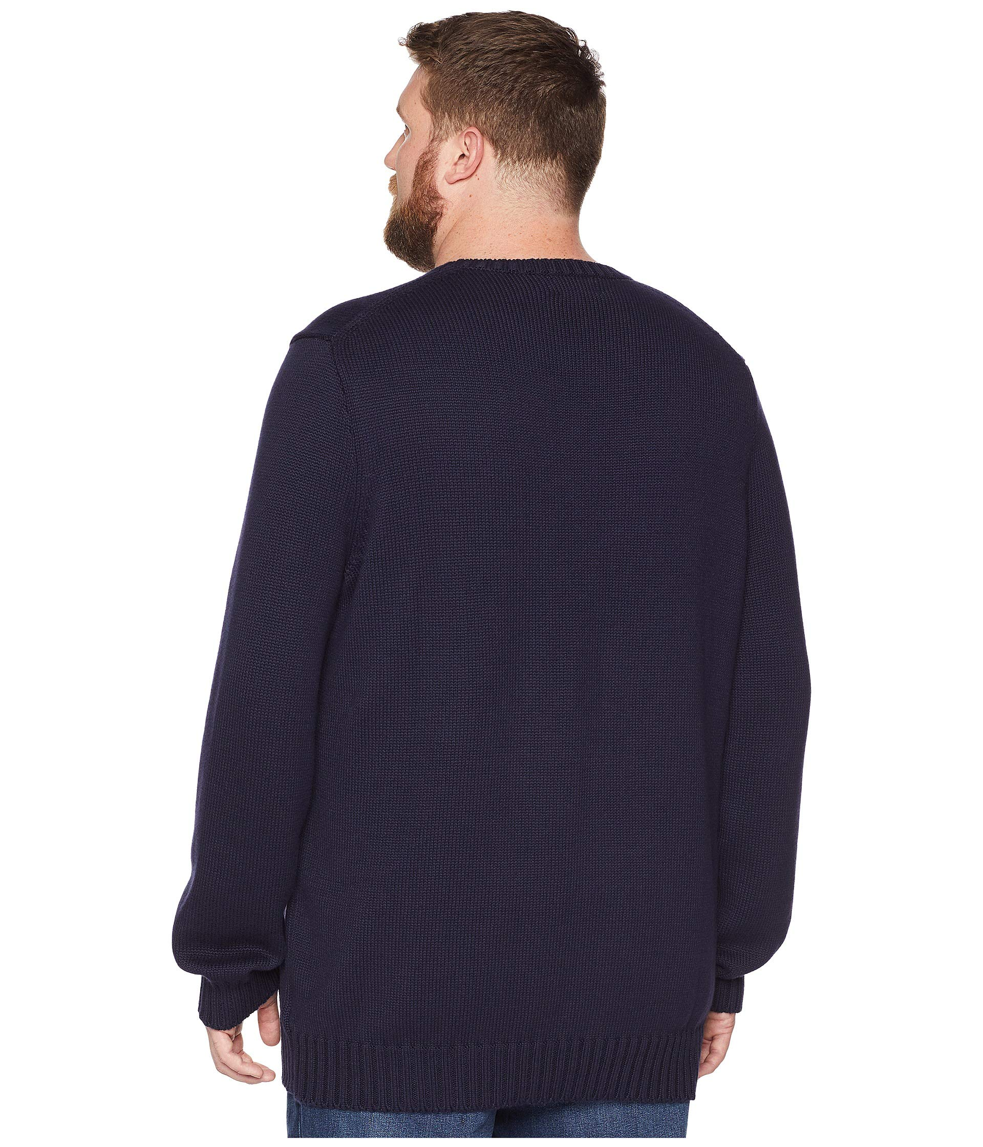 Tall Navy Icon amp; Ralph Lauren Flag Polo Big Sweater F8IZq