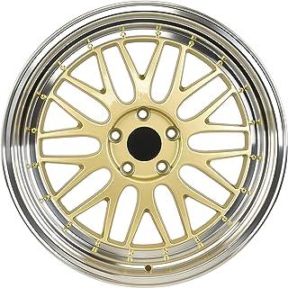 """IPW W882 19x8.5 5x114.3 35mm Gold/Machined Wheel Rim 19"""" Inch"""
