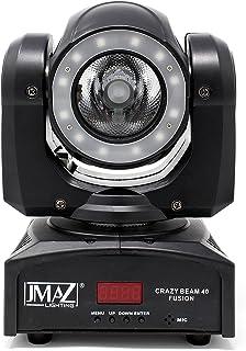 JMAZ Crazy Beam 40 Fusion LED Moving Head Beam Light 40-Watt Quad RGBW with LED Ring DMX512 For Stage Light Disco DJ Wedding Party Show Live Concert Lighting