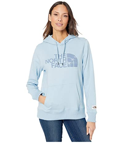 The North Face Recycled Materials Pullover Hoodie (Angel Falls Blue Heather) Women