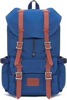 Fjorda Canvas Rucksack Fidelio - Als Handgepäck, für die Schule oder Uni, mit Laptop-Fach - Viel Platz durch 23L Volumen - Für Damen und Herren Blau