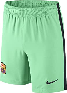 Nike 2016-2017 Barcelona Third Football Shorts Green Glow (Kids)