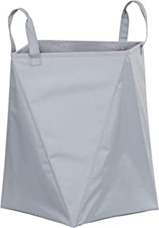 Household Essentials Grey 2440 Folding Laundry Hamper Carry All with Handles | Small