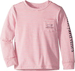 Edgartown Shep Stripe Vintage Whale Pocket Tee (Toddler/Little Kids/Big Kids)