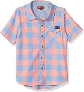 7 For All Mankind Boys Button Up Short Sleeve Shirt Short Sleeve Button Down Shirt