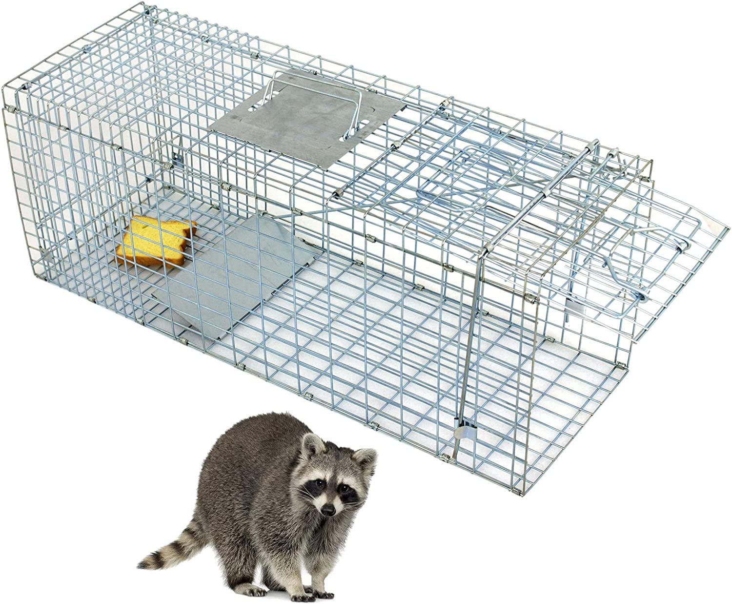 Saturnpower Live Animal Trap Cage Steel Max 83% OFF specialty shop Release Catch Human
