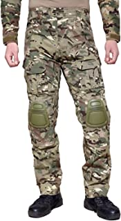 MAGCOMSEN Men's Airsoft Military Ripstop Combat Slim Fit Pants with Knee Pads