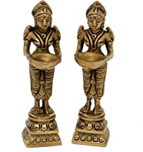 Aakrati Deep Laxmi Set Made of Metal,Brass Statue,Valuable Collectible, Handcrafted Home Decorative 3D Moving