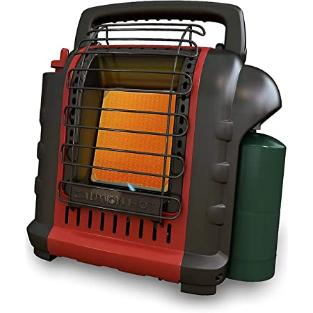 4,000-9,000-BTU Portable Propane Heater, Radiant Outdoor Heater for Camping Fishing Hunting