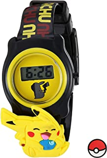 Pokemon Pokemon Kids' POK3085 Digital Display Quartz Black Watch