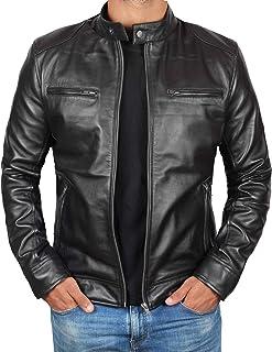 Sponsored Ad - Genuine Black Leather Jacket Men - Lambskin Lightweight Mens Leather Jackets