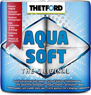 Thetford 30010 Papel higiénico de disolución rápida Aqua Soft, blanco