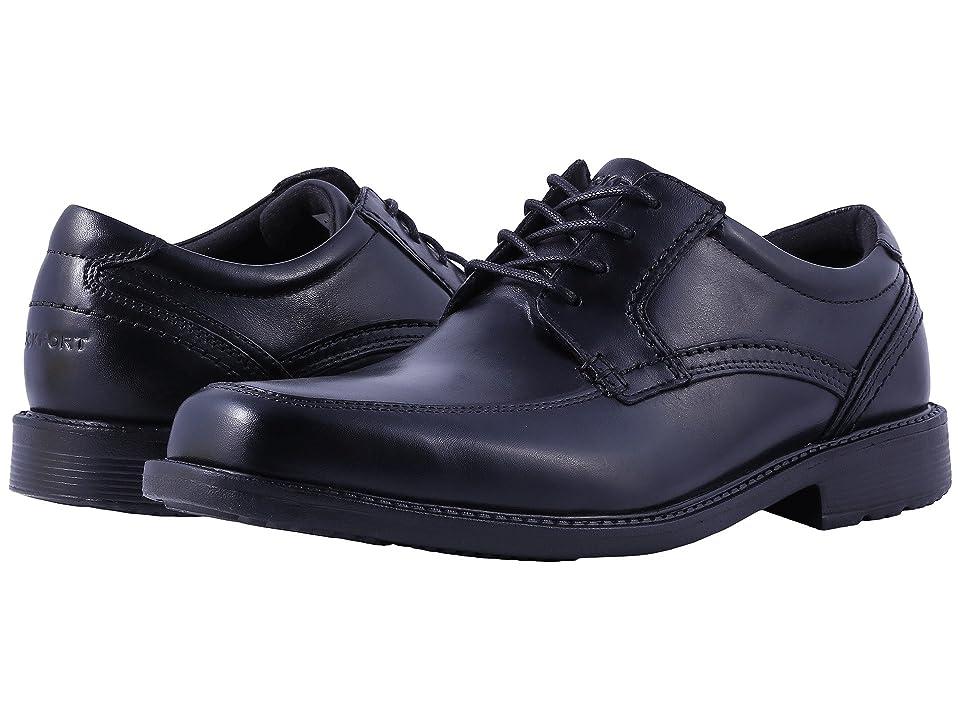 Rockport Style Leader 2 Apron Toe (Black Waxed Calf) Men