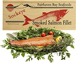 Smoked Sockeye Salmon, 16 Oz. Filet, Wooden Legacy Box
