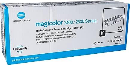 Konica Minolta 1710587-004 Magicolor 2400 2430 2450 2480 2490 2500 2530 2550 2590 Toner Cartridge (Black) in Retail Packaging