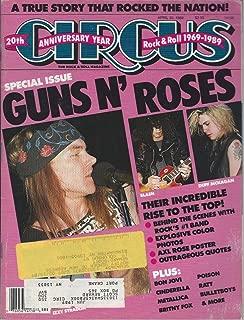 Circus Rock Magazine 30 April 1989 Guns n Roses Axl Slash Motley Crue Bon Jovi Cinderella Metallica Poison Britney Fox Bulletboys Ratt 20th Anniversary (Circus Magazine)