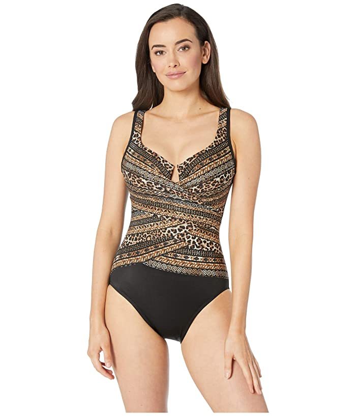 Miraclesuit Lionessa Layrd Escape One-Piece (Brown) Women