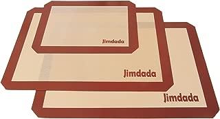 失敗知らずのお手入れ簡単料理用シリコンマット3枚セット くっつかないシリコン焼き菓子用マット Lサイズ2枚(42cm x 29.5cm)&Sサイズ1枚(29.8cm x 21cm)Jimdada耐熱クッキーシート