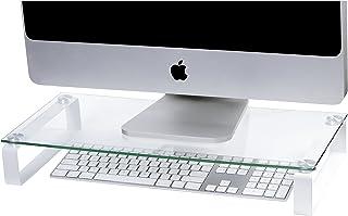 ESSELTE 30051 Monitor Stand Glass,60CM White Legs