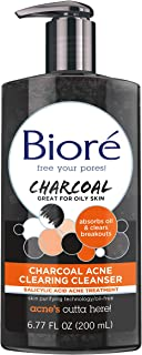 Bioré Charcoal Acne Clearing Face Wash, 6.77 Ounce, 1% Salicylic Acid Acne Treatment, Helps Prevent Breakouts, Oil Absorpt...