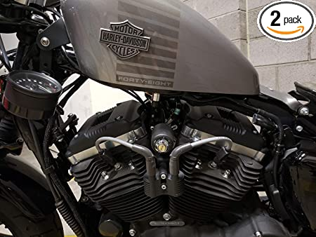 Tank Lift kit ♤ BLACK JBSporty ♤ Harley Sportster Coil Ignition Relocation Kit