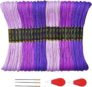 Premium Purple Embroidery Floss - Cross Stitch Threads - Friendship Bracelets Floss - Crafts Floss- Hand Embroidery Thread...