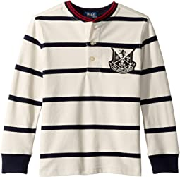 Striped Cotton Mesh Henley (Little Kids/Big Kids)
