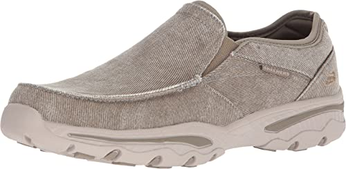 Skechers Hommes's Relaxed Fit-Creston-Moseco Moccasin, Taupe, 9.5 M US