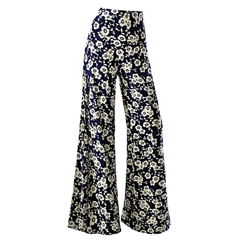 360348f689f5 Arolina Women s Stretchy Wide Leg Floral Print Palazzo Lounge Pants