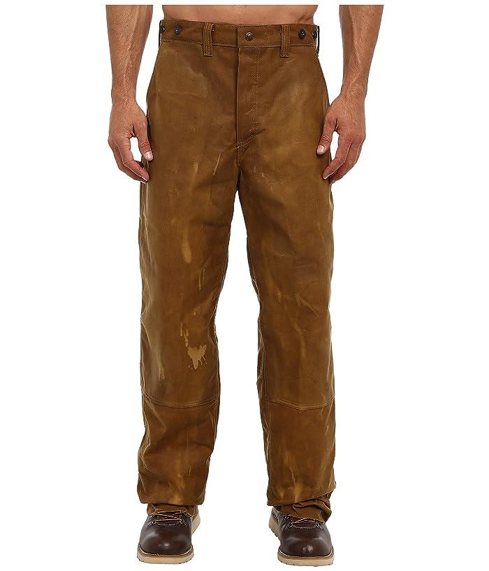 Men's Vintage Workwear – 1920s, 1930s, 1940s, 1950s Filson Oil Finish Double Tin Pant Tan Mens Casual Pants $250.00 AT vintagedancer.com