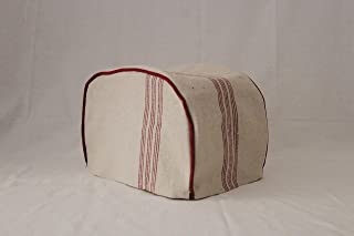 Simple Home Inspirations Feedsack Toaster Cover (Red, 2 Slice Toaster Cover (12